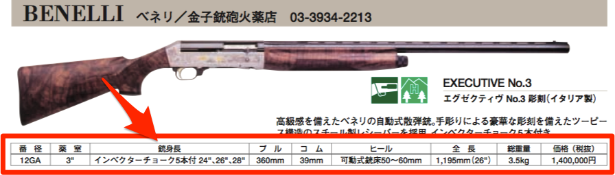 SPORTS GUN NET三のカタログより