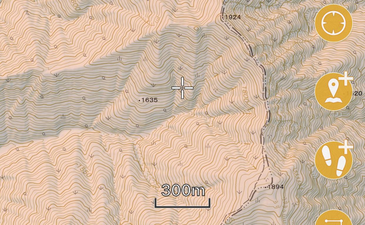 ジオグラフィカの地形図